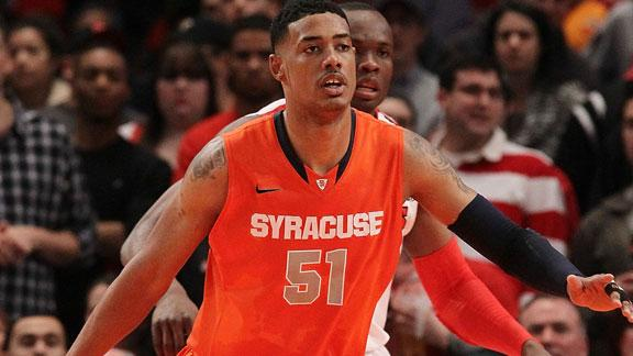 NCAA Tournament 2012: Syracuse center Fab Melo Ineligible