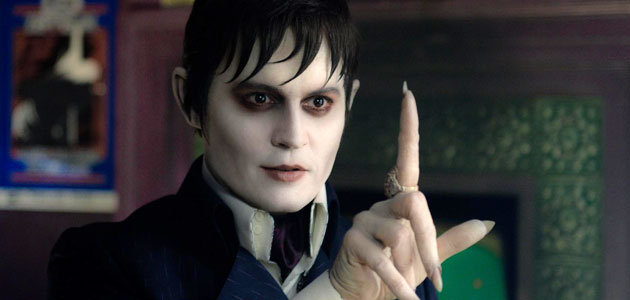 "Johnny Depp in ""Dark Shadows"" plays as vampire"