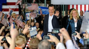 Mitt Romney Campaigns In Las Vegas
