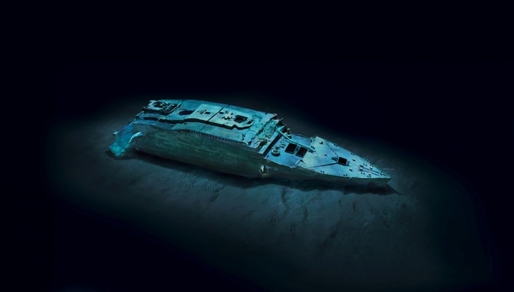 Titanic wreckage revealed