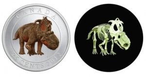 Canadian coin glows in the dark