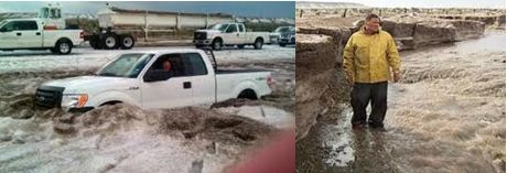 Texas Storm results in Four Feet of Hail
