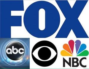 ABC, NBC, CBS , Fox