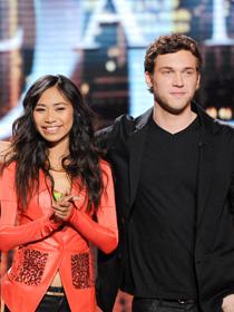 American Idol 2012 Top 2 finalists- Jessica Sanchez and Phillip Phillips