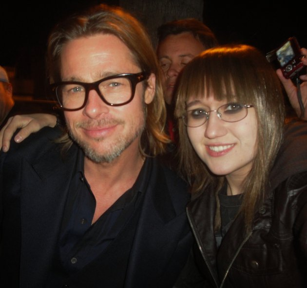 Stalker Sarah: a 16-year-old girl posing with Hollywood Stars (Photos)