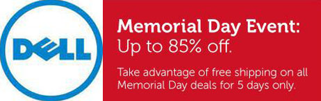 Memorial Day Sales 2012: Dell Memorial Day Event Offers up to 85% off plus free shipping