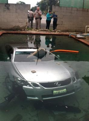 California family found Lexus in their backyard swimming pool