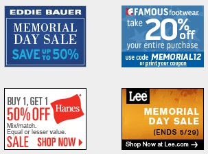 Memorial Day 2012: Sales, Discounts, Deals, Coupons and Free Shipping Offers