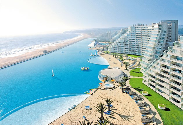 World's Largest Outdoor Swimming Pool: San Alfonso del Mar resort in Chile (video)