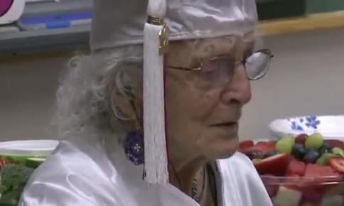 Ann Colagiovanni 97 Receives High School Diploma
