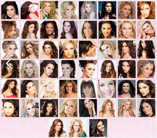 MISS USA 2012 Contestants
