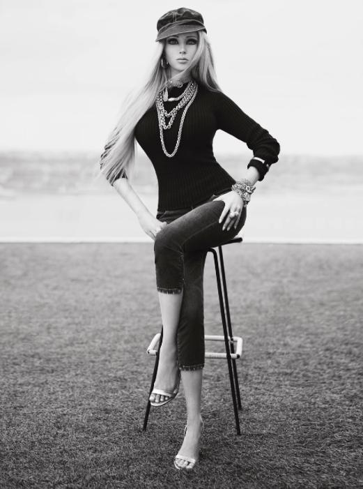 Human Barbie Doll Valeria Lukyanova Poses for V Magazine