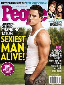 New sexiest man alive 2012 Channing Tatum People Magazine cover