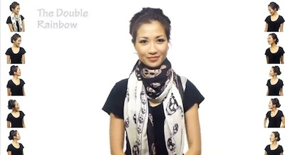 Wendy's Lookbook: 25 Ways to Wear a Scarf (VIDEO)