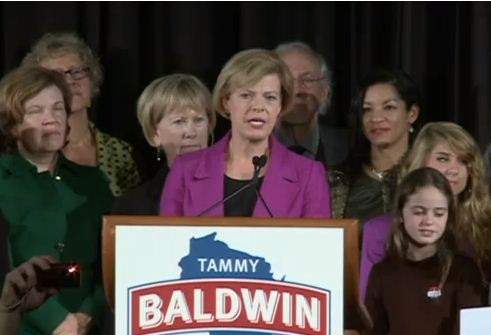 Wisconsin's Tammy Baldwin is first openly gay person elected to Senate