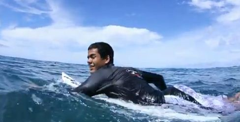 Blind Surfer Derek Rabelo