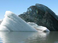 Black iceberg seen photo becomes viral