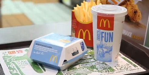 McDonald's fish with an Eco-label seal from the Marine Stewardship Council