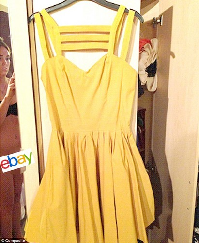 Naked eBay seller photo