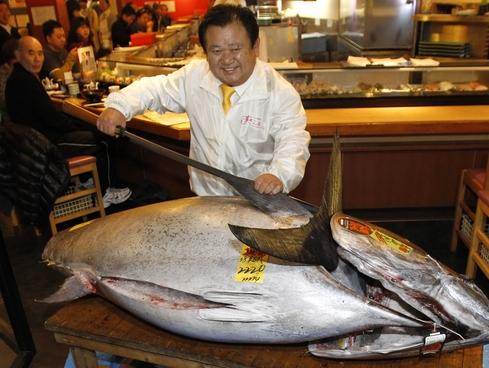 Bluefin tuna winning bidder Kiyoshi Kimura