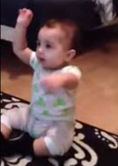baby dancing the Gangnam Style on YouTube