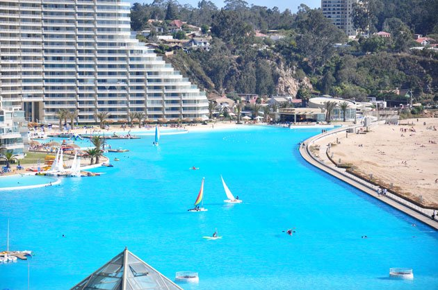 Largest Pool In Chile >> World S Largest Outdoor Swimming Pool San Alfonso Del Mar